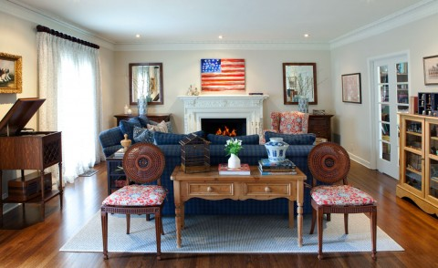 Lauren Jacobsen traditional Livingroom flag