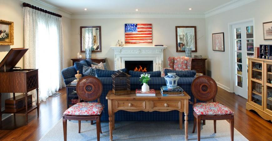 Lauren Jacobsen traditional Livingroom flag