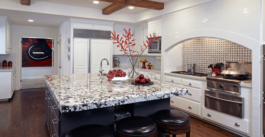 Kitchen islands are statement pieces.