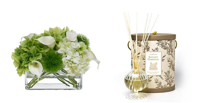 Welcoming your guests with flowers and scent