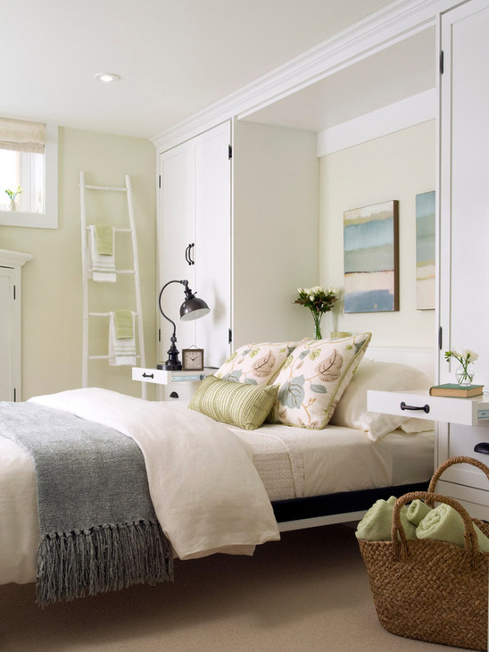 Basement Family Guest Room by Laura Stein