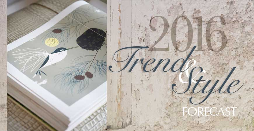 2016 Trend Forecast in Interior Design