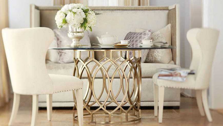 Bernhardt metal and leather furniture