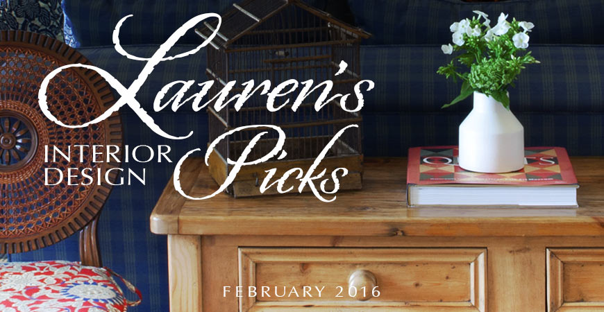 Lauren Jacobsen's Interior Design Decor Picks