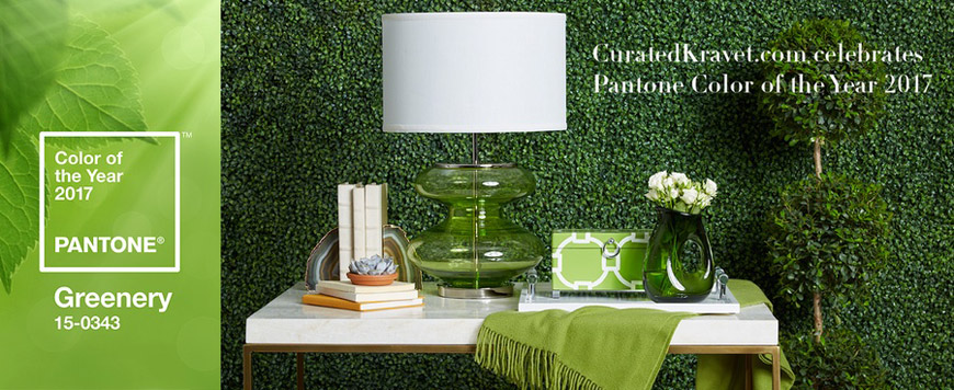 Curated Kravet-Greenery, Pantone Color of the Year