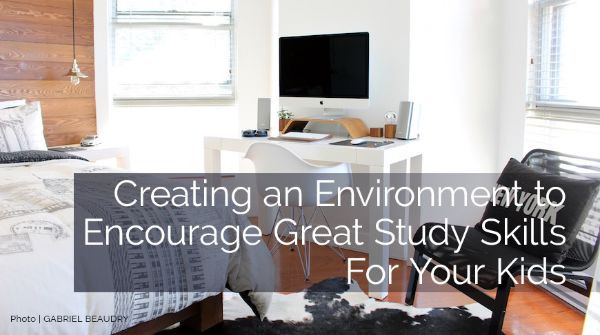 Creating great study skills in a kids bedroom design