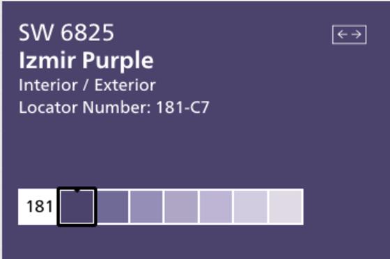 Sherwin Williams purple to match Ultra Violet