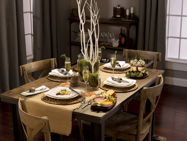 Bed Bath & Beyond rustic styled dinner table setting