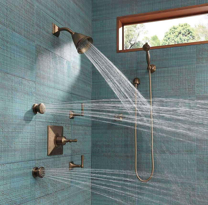 Brizo Vesi custom shower