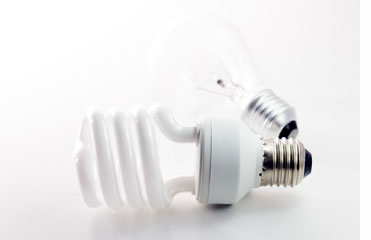 Incandescent and fluorescent energy saving light bulbs