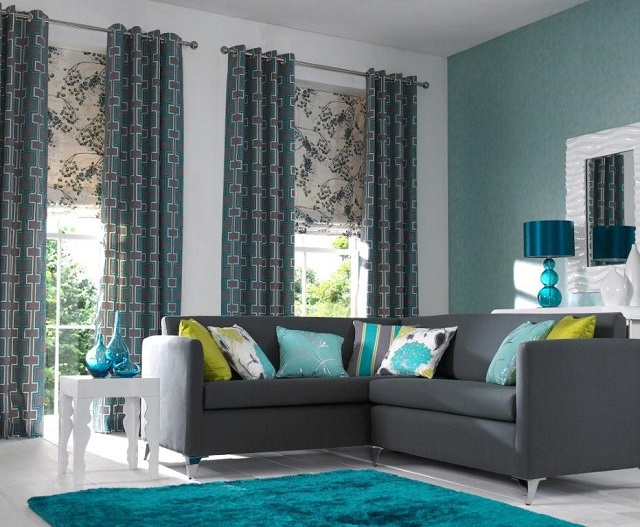 Koket blue living room
