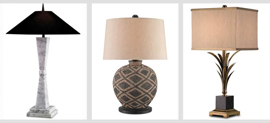 Currey and Company table lamps
