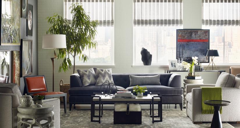 Tom Filicia living room for Kravet