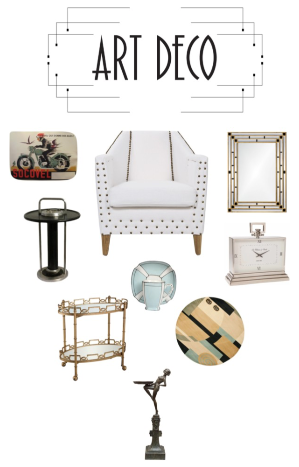 Art Deco furnishings and accessories at Polyvore