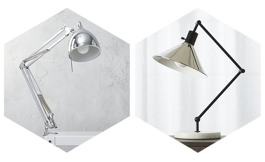 CB2 Table Lamps for Studying