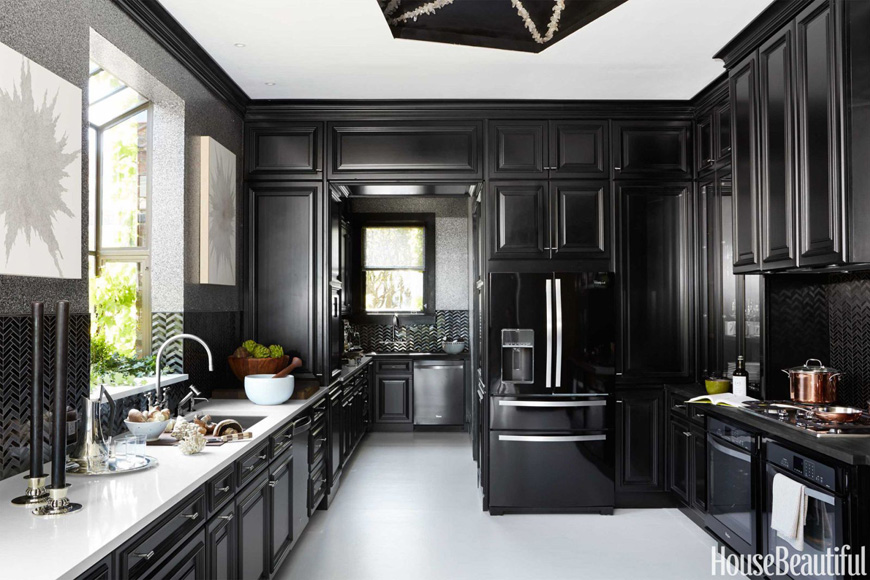House Beautiful Kitchen in black