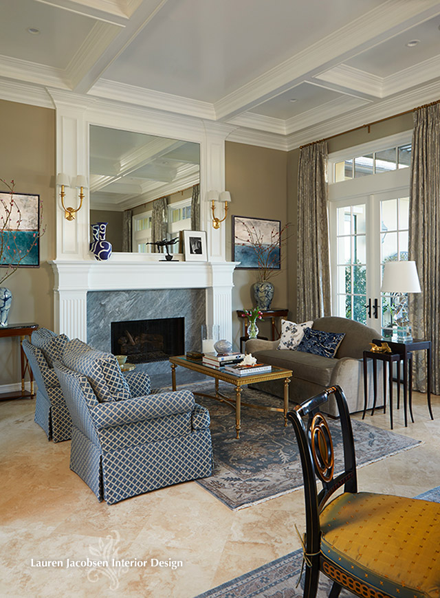 Living room design by Lauren Jacobsen Interior Design