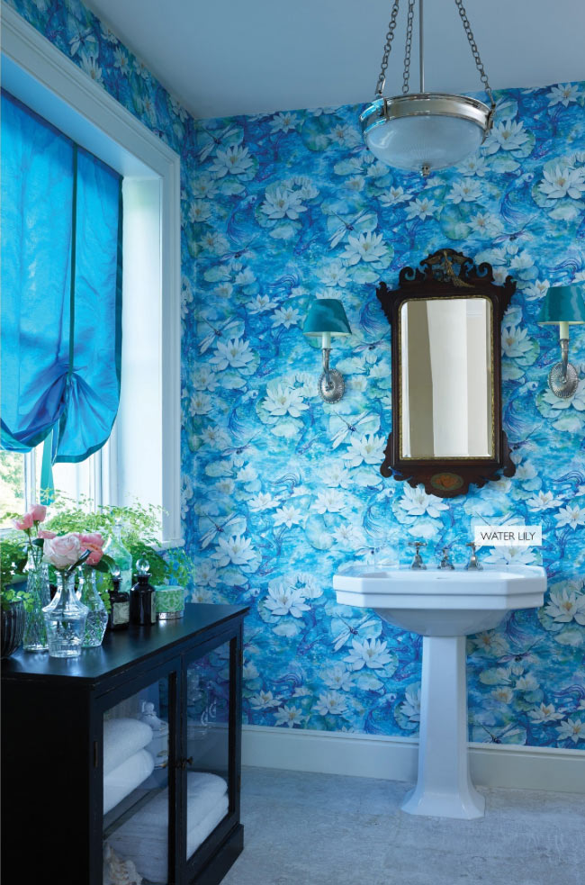 Water Lily wall covering by Osborne & Little