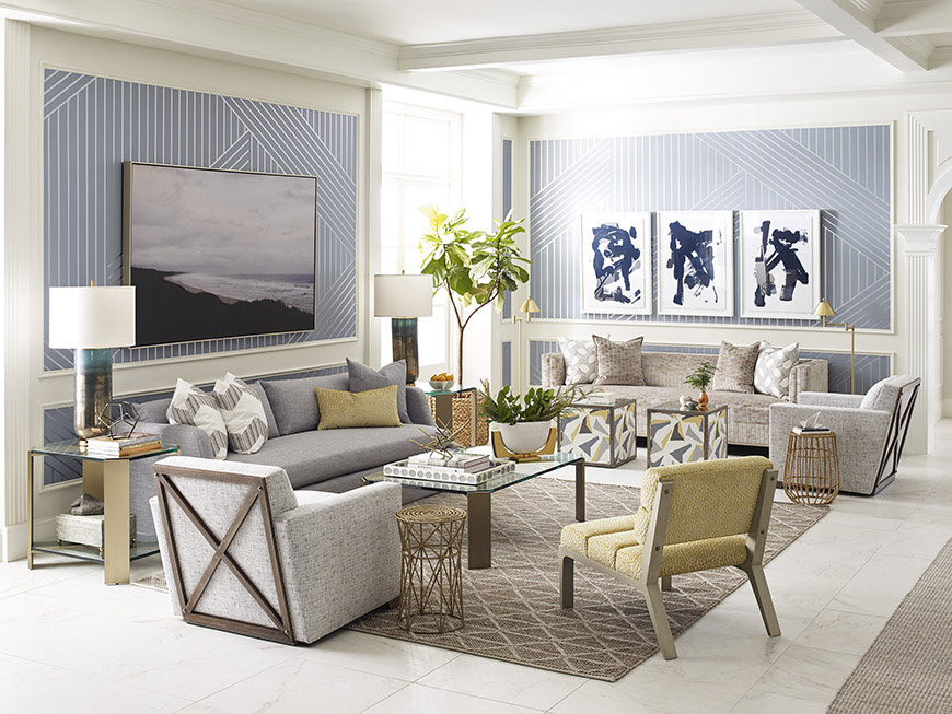 Thom Filicia living room for Kravet