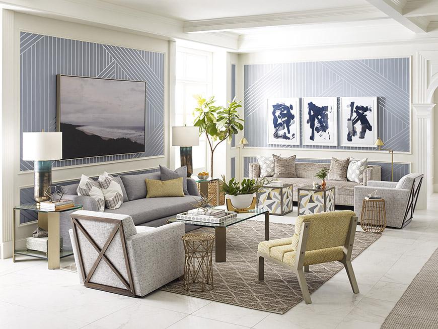 Thom Filicia living room for Kravet