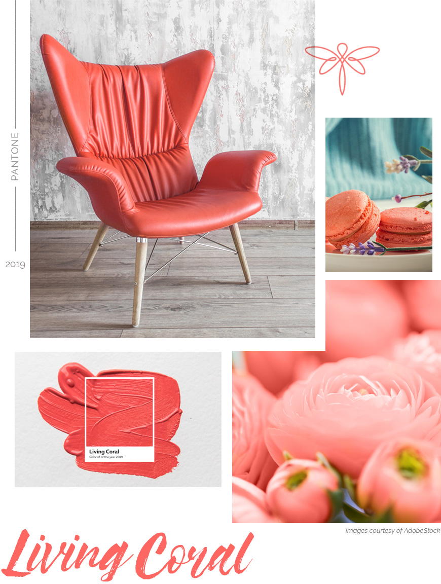 Pantone Color of the Year - Living Coral inspiration montage