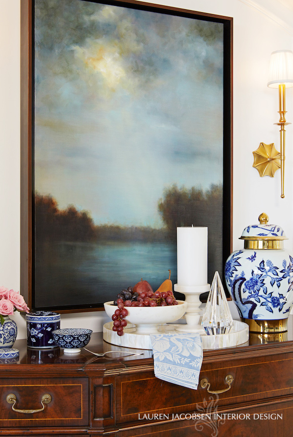 Lauren's Dining Room - buffet table with Chinoiserie