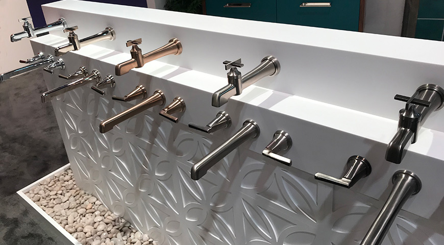 Delta bathroom tub fixtures at KBIS