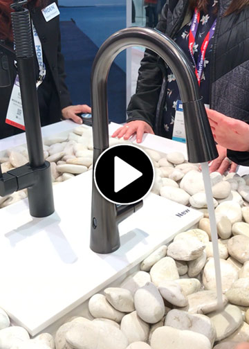 Video link-moon hands-free kitchen faucet at KBIS