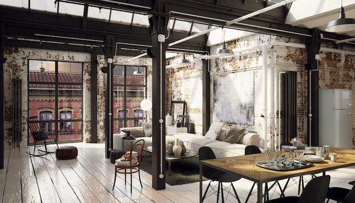 vintage loft interior - industrial style