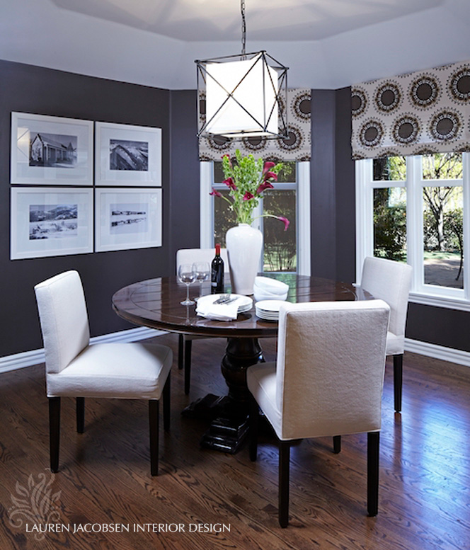 Dining room design by Lauren Jacobsen Interior Design