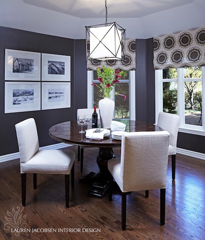 Dining room design by Lauren Jacobsen Interior Design