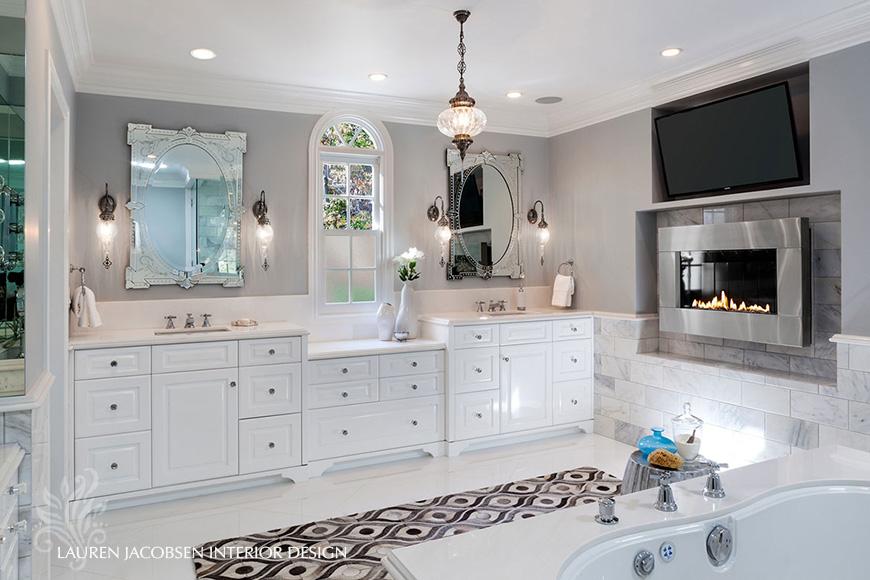 Bathroom interior design by Lauren Jacobsen
