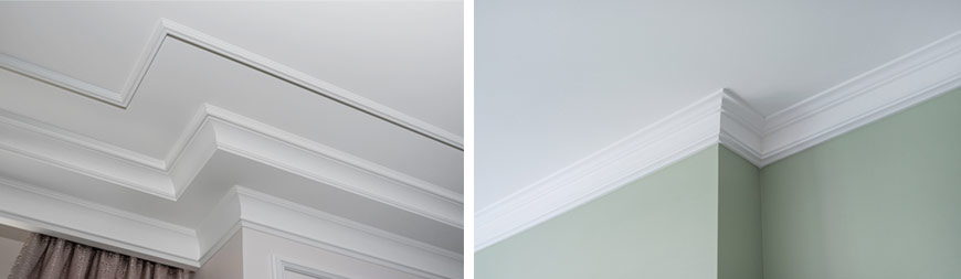 Detail of intricate corner crown molding.  a detail of corner ce