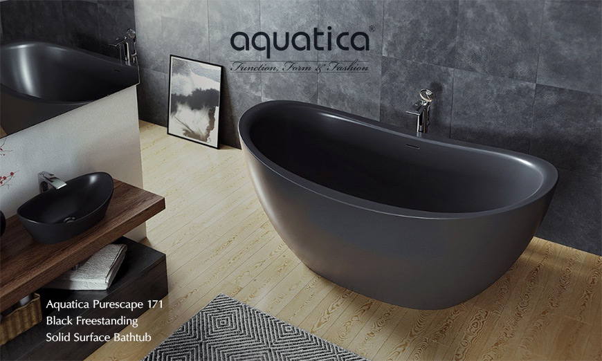 Aquatica Purescape freestanding bathtub in black