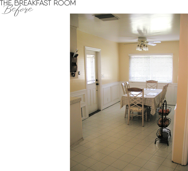 The Breakfast Room BEFORE remodel