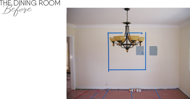 The dining room BEFORE remodel