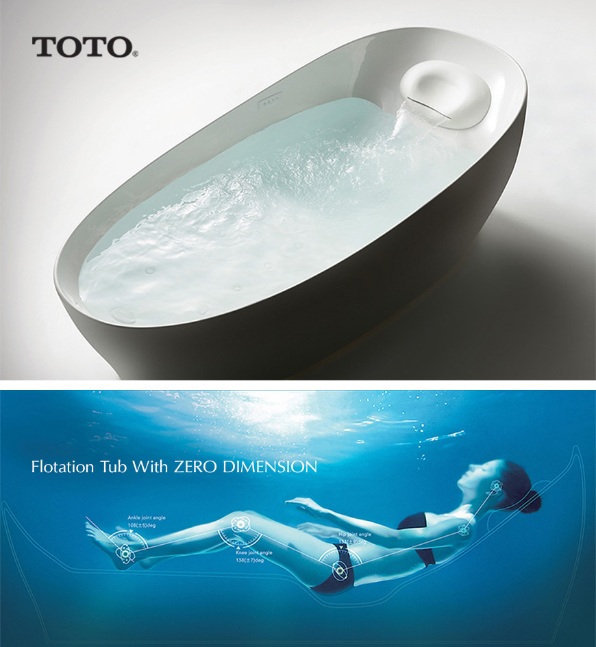 Toto's Flotation freestanding bathtub