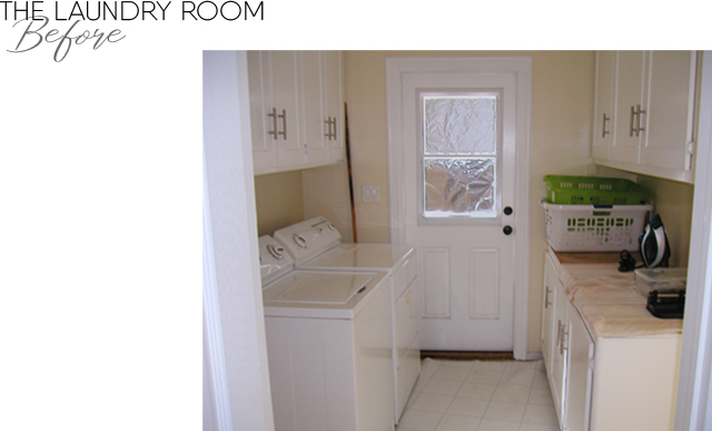 The Laundry room BEFORE remodel