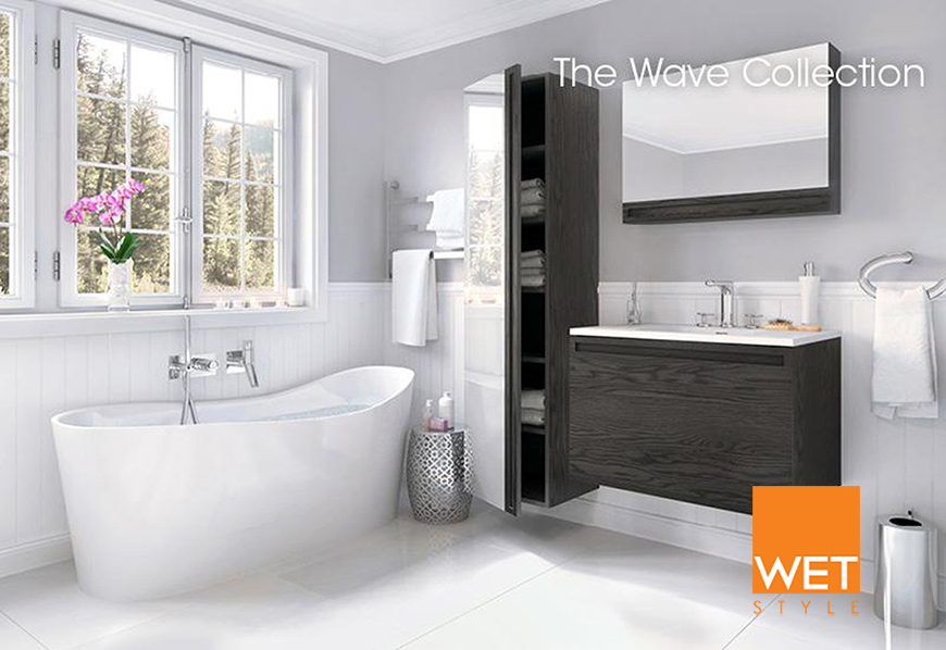 Wes Style bathtub from the Wave Collection