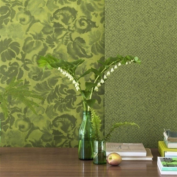 Designers Guild - Katagami fabric in moss