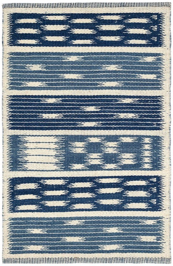 Kasuri-woven-wool-rug-by-Mark-Sikes