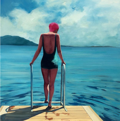 T.S. Harris-Summer-Swim-painting