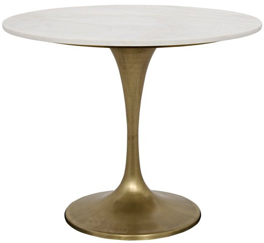 One-Kings-lane-Laredo Dining Table, White:Bronze