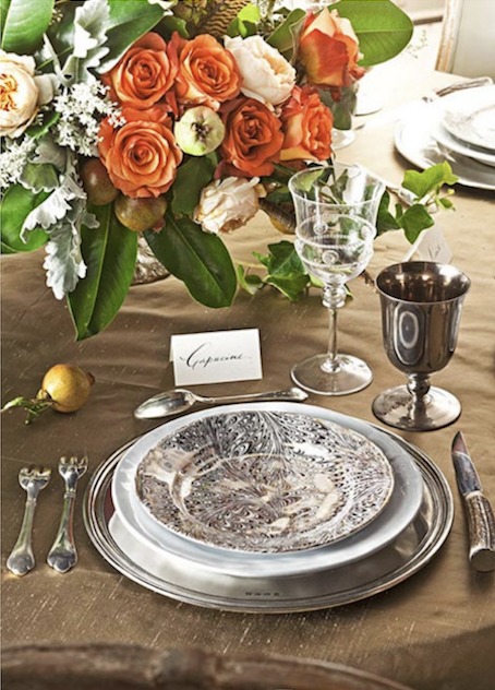 Juliska-metallic-table-setting-holiday-Capucine-Gooding-holiday-entertaining