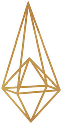 graphic ornament in gold