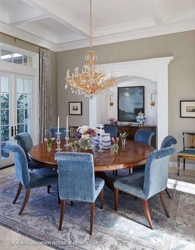 Lauren Jacobsen Interior Design - Dining room - Classic Blue