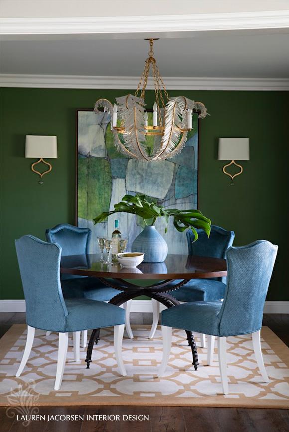 Dining room interior design by Lauren Jacobsen