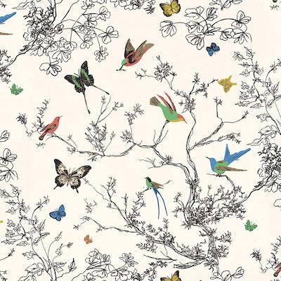Schumacher-Birds-Butterflies-wallpaper