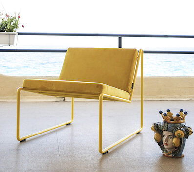 Bliss Yellow Armchair by Stefano Sanfilippo