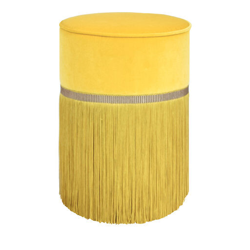 Couture Yellow Pouf by Lorenza Bozzoli Design